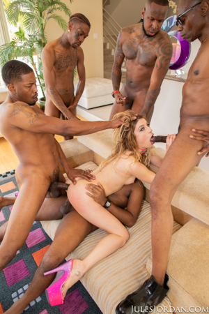 Kristen Scott Interracial Gangbang!